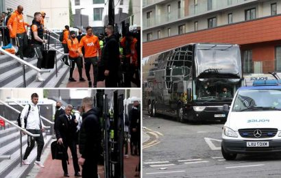 Man Utd players leave Lowry with police escort after unprecedented fan protests saw Liverpool game axed