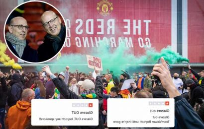 Man Utd's £235m new sponsor TeamViewer bombarded with negative reviews by fuming fans in backlash against hated Glazers