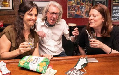 New York drinkers in high spirits as bar seating returns