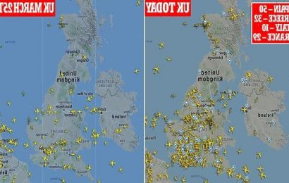 Revealed: UK skies packed with flights to amber holiday destinations