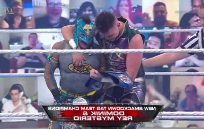 Rey Mysterio and son Dominik become FIRST ever WWE father-and-son tag team champions at WrestleMania Backlash
