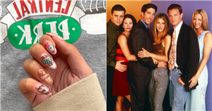We Can't Stop Staring at These Detailed Friends-Themed Manicures For the Reunion Special