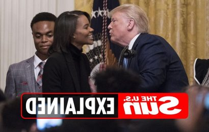 What time is Candace Owens interviewing Donald Trump?