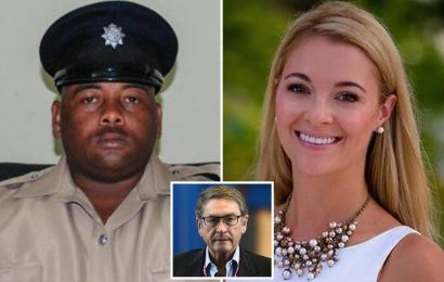 Billionaire Lord Ashcroft paid for police gym & jail on island where Jasmine Hartin is charged over 'shooting cop dead'