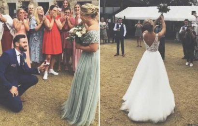 Bloke totally divides opinion after he proposes to maid of honour during a wedding