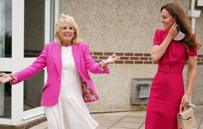 Duchess Kate sends 'the very best' to baby Lilibet during visit to UK school with Jill Biden