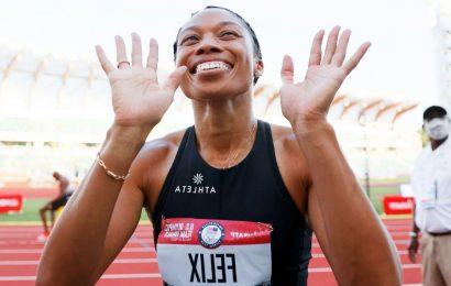 Felix, 35, rallies in 400, qualifies for 5th Olympics