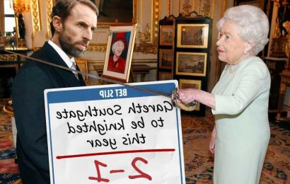 Gareth Southgate 2/1 to be knighted by the Queen in New Year Honours list after England beat Germany at Euro 2020