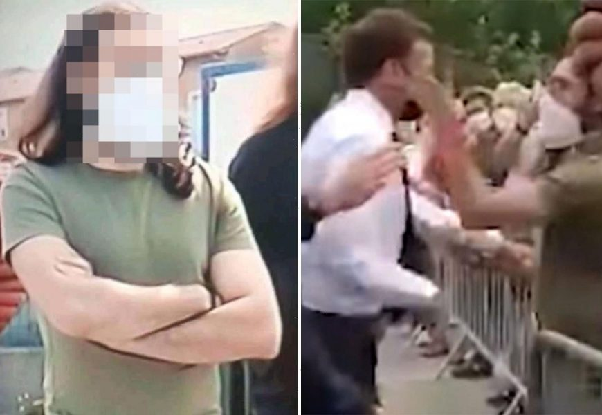 Hitler-loving voter who slapped Macron says he was 'disgusted' by president's 'lying face' as he's jailed for 4 months