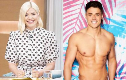 Holly Willoughby swoons over 'gorgeous' Love Island star Brad McClelland