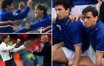 Inside Mancini and Vialli's 40-year bromance, from strike partners at Sampdoria to leading Italy at Euro 2020