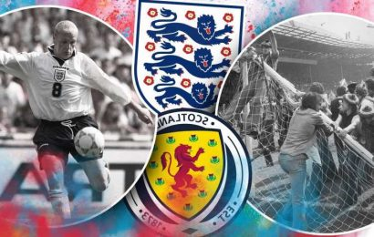 Inside football's oldest rivalry as England vs Scotland clash TODAY 25-years on from Gazza's Euro 1996 goal