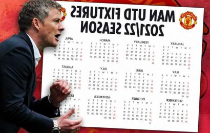Man Utd Premier League fixtures 2021/22: United start vs Leeds with horror October and November ahead as games revealed