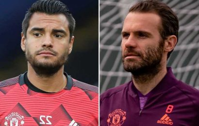 Man Utd release EIGHT players including Sergio Romero and Joel Pereira but confirm Juan Mata in talks over new deal