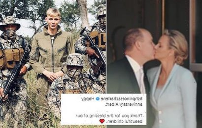 Princess Charlene shares video with Prince Albert ahead of anniversary