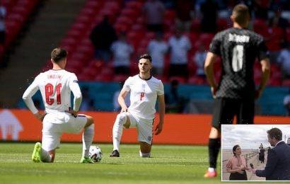 Priti Patel slams England footballers for taking the knee