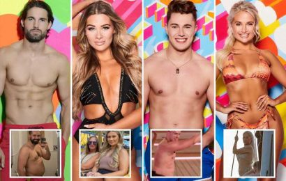 The Love Island stars who turned their backs on extreme dieting and exercise to embrace a natural look after the villa