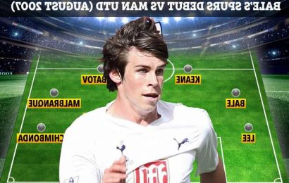 Where are Gareth Bale's Tottenham team-mates from 2007 debut against Man Utd, from Steed Malbranque to Pascal Chimbonda?