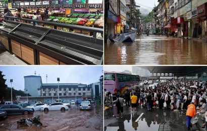 At least 25 dead, 1.2M people displaced in record-breaking rainfall in China