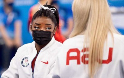 Before criticizing Simone Biles for her team gymnastics withdrawal, imagine walking a mile in her Air Jordans