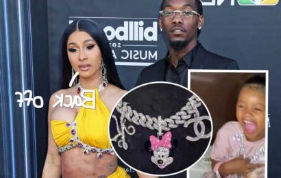 Cardi B Defends Buying Kulture $150,000 Necklace: 'If Mommy & Daddy Fly Then So Is My Kids'