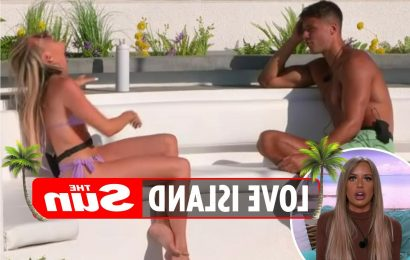 Chloe Burrows called out by fans for 'breaking girl code' on Love Island as she LAUGHED while Brad slammed Faye