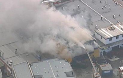 Fire crews battle building blaze in Melbourne's north-west