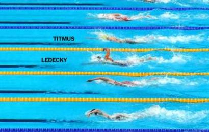 How Katie Ledecky's lead evaporated in the 400-meter freestyle final.
