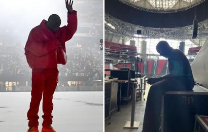 Kanye West 'is LIVING in Atlanta's Mercedes-Benz Stadium until he finishes Donda album' after the listening party
