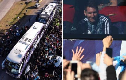 Lionel Messi and Co arrive back in Argentina to heroes' welcome after historic Copa America triumph over Brazil