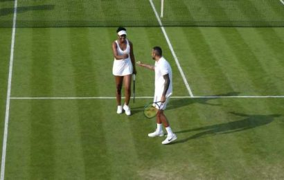 Nick Kyrgios' injury ends mixed doubles partnership with Venus Williams