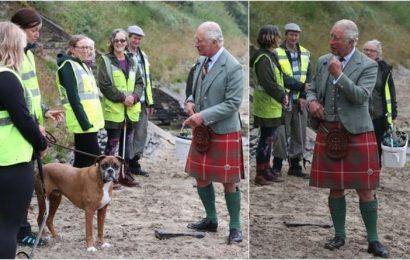 Prince Charles follows royal tradition wearing kilt to visit Scotland