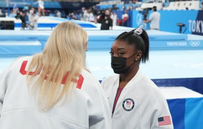 Simone Biles is withdrawing from the Olympic all-around gymnastics competition.