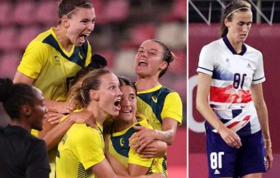 Team GB women's football team OUT of Tokyo Olympics after devastating 4-3 quarter-final defeat to Australia