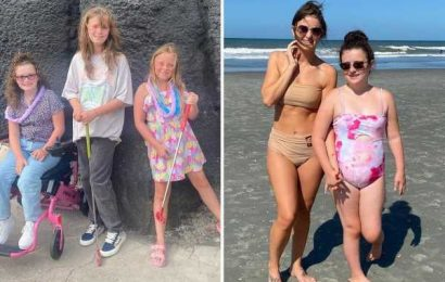Teen Mom Leah Messer shows off impressive abs in a tiny bikini during family vacation with daughters