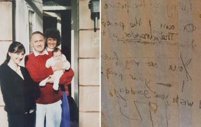 Time travel message hidden under wallpaper leaves family stunned after finding note 45 years later