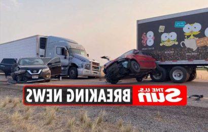 Utah crash 'kills six & leaves several injured' as sandstorm triggers 20-vehicle pile-up on I-15 near Fillmore