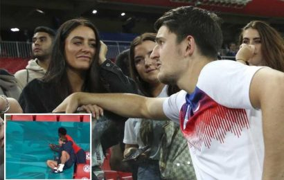 Watch Grealish and Saka do hilarious Maguire impression as they chat to friends after England reach Euro 2020 final