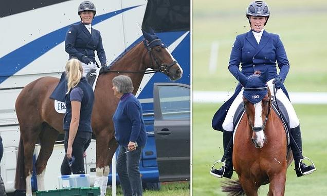 Zara Tindall competes at The Barbury Castle International Horse Trials