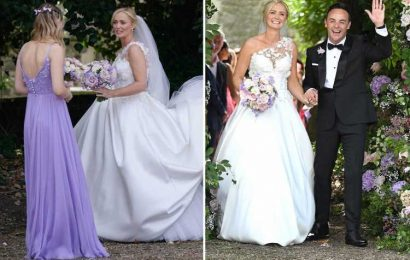 Ant McPartlin flies off on 'familymoon' with new wife Anne-Marie and her two daughters after incredible wedding