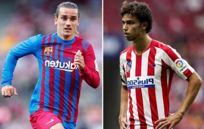 Antoine Griezmann could make shock deadline day transfer return to Atletico Madrid with Joao Felix going to Barcelona