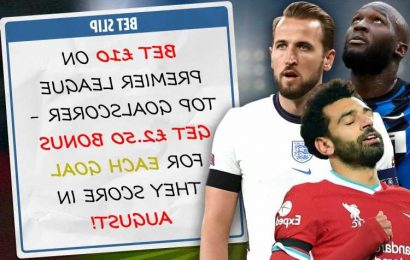 Bet £10 on Premier League top goalscorer, get £2.50 free bet for every goal they score in August