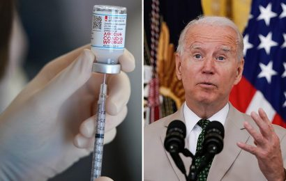 Biden blunder as he says '350million Americans are vaccinated' – when there aren't that many people in US
