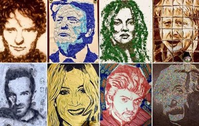 Can YOU spot celebrity portraits with a clever twist?