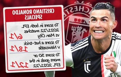 Cristiano Ronaldo betting odds – Get Man Utd star at 18/1 to score hat-trick against Newcastle plus 6/1 Man City special