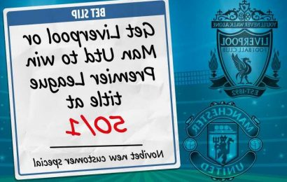 Get Liverpool or Man Utd to win 2021-22 Premier League title at 50/1 with Novibet odds boost special