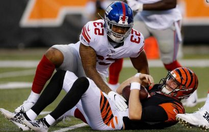 Giants' Oshane Ximines takes important step in long injury recovery