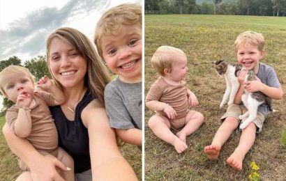 Joy-Anna Duggar reveals family's new kitten as she shares pics of pet with son Gideon, 3, and daughter Evelyn, 11 months