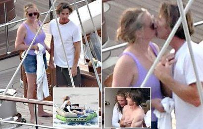 Julia Roberts and husband Daniel Moder share kiss aboard luxury yacht