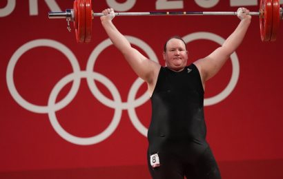 Laurel Hubbard becomes the first openly transgender woman to compete.